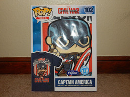 New! Marvel Captain America Civil War Funko Pop! Tees #102 Large L Free ... - $12.86