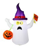 Joiedomi 4.5 ft Halloween Inflatable Blow Up Ghost with Boo Flag for Hal... - $30.63