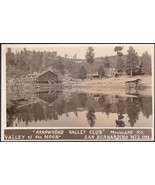 Arrowhead Valley Club, CA RPPC 1920s San Bernardino Mts., Moon Lake #1 - $59.75