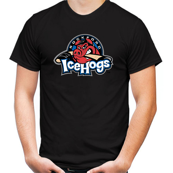 Primary image for Rockford IceHogs Tshirt Black Color Short Sleeve Size S-3XL