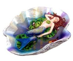 Sheila Wolk Mermaid Swimming With Koi Fishes Elan Vital Sculpture Statue - $34.84