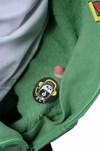 Dunkelvolk Rasta Logo Jamaica Fluorite Green Zip Up Hoodie NWT image 4