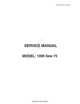 ELNA 1000 SEW 75 SERVICE MANUAL REPRINTED COMB BOUND - $12.57