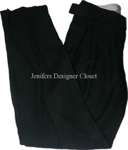 NWT R.E.D. VALENTINO pleated pants slacks black belted 40 skinny $520 de... - $145.49