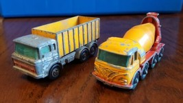 Matchbox Container truck No. 47 and Foden Cement Truck No. 21  Lesney En... - $37.50