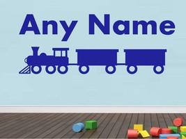 Personalizado Tren Cualquier Nombre Pegatina Vinilo Pared Dormitorio Infantil - $14.26