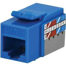 Datacomm Electronics 20-3425-BL-10 CAT-5E Jacks, 10 Pack (Blue) - $37.92