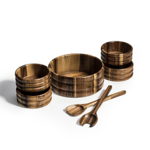 Wood Salad Bowl with Servers and Individual Bowls - 7 Piece Set - $83.95