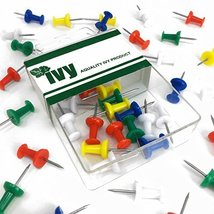 Ivy Stationery - Assorted Colour Push Pins - Box of 40 - ₹305.08 INR