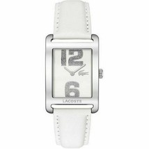 Brand New Lacoste 2000651 Club Collection Andorra White Leather Women's Watch - $137.60