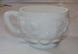 Westmoreland Milk Glass coffee tea cup Grape Vine design white Vintage 3... - $24.74