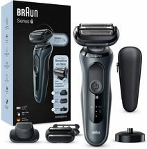 Braun series 6 60n4820cs electric shaver charge base film dry/wet grey - $529.68
