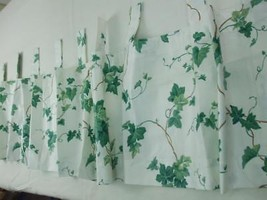 Waverly Home Fashions Curtain Valance w Tab Top Green Ivy Vine Cottage 7... - $24.70