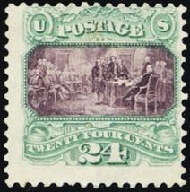 120, 24¢ RARE Mint Stamp With PFC Certificate Cat $7,500.00 - Stuart Katz - $1,500.00