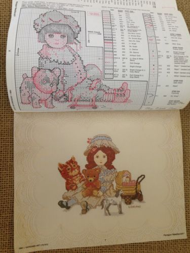 Paragon Needlecraft Antique Bisque Dolls Cross Stitch Book No 5112