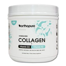 Orthopure Collagen Peptides Fortified with Vitamin D3 and Vitamin K2, 18g Collag image 1