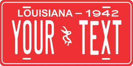 Louisiana 1942 License Plate Personalized Custom Car Bike Motorcycle Moped Tag - $10.99+
