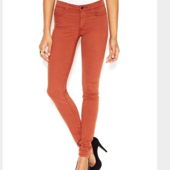 Womens New Designer NWT Joes Denim Jeans 28 Legging Brick Dust Dark Orange Soft