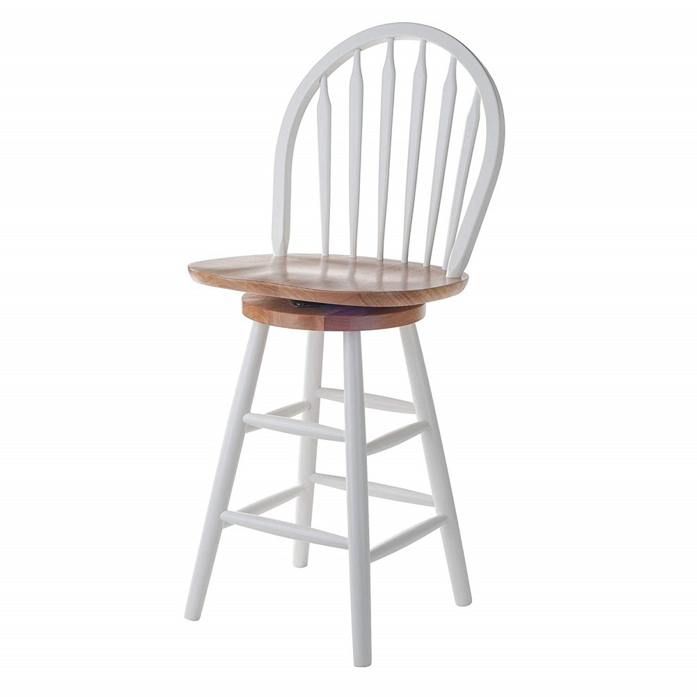 Winsome Wood 53630 Wagner Stool 30 Quot White Natural Color