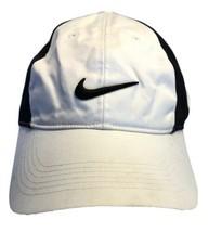 Nike Golf Lightweight Baseball Hat White with Black 3D Logo Adjustable  - $14.69