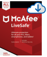 MCAFEE LIVESAFE 2021 - 5 Year  Product Key UNLIMITED- Windows Mac Email ... - $94.99