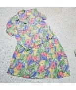 Alfred Dunner Women's Vintage Shirt & Skirt Set ~ Sz 12 ~ Floral ~ Below... - $24.74