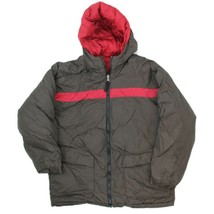 Old Navy Boys Brown Red Reversible Hooded Winter Jacket Youth Size Large - $18.80