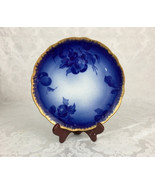 "Antique Onondaga Pottery O P Co Syracuse China Flow Blue Plum 9"" Mayflow... - $74.99"