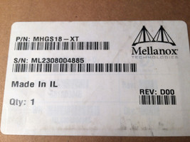 Mellanox MHGS18-XT 20Gb/s InfiniBand PCI Express x8 HCA Adapter Card New - $29.64