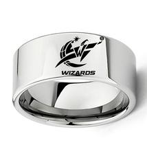 Washington Wizard Basket Ball Team Logo Tungsten Carbide Comfort Fit Rin... - $32.99