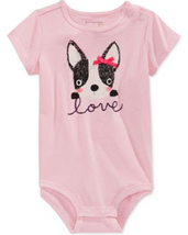 First Impressions Baby Girls' Puppy Love Bodysuit, Sizes 3 To 24 Months - $8.99