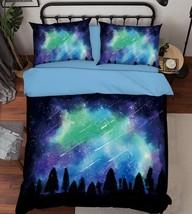 3D Meteor Shower Bed Pillowcases Quilt Duvet Cover Set Single Queen King Size AU - $64.32+