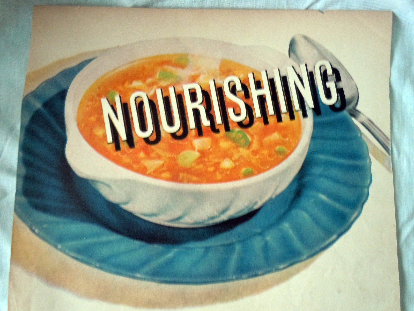 Campbell's Vegetable Soup Nourishing Advertising Print Ad Art 1940s image 2
