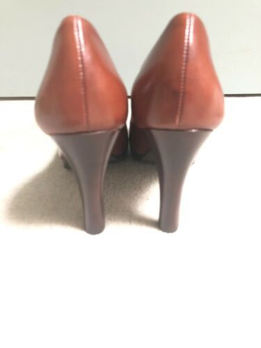 "New Jessica Simpson 8.5 M Brown 5"" Classic Round Toe Stiletto Heels Shoes image 5"