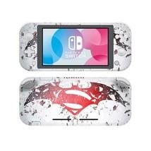 Nintendo Switch Lite Console Skin Stickers Decals Vinyl Superman Hero DC Comic - $9.31
