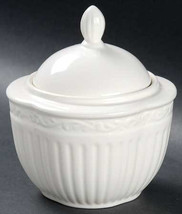"MIKASA Italian Countryside Collectible White Sugar Bowl & Lid Size: 2 7/8 in"" Ma - $17.59"