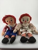 """Vintage Raggedy Ann & Andy Doll Knickerbocker Taiwan 20"""" Stuffed Toy - $46.74"""