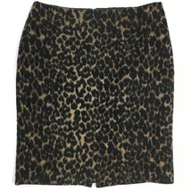 Talbots Women's Skirt Size 10P Leopard Print Wool Textured Career Straig... - $15.44