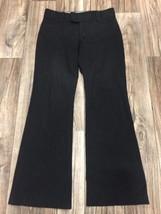 Banana Republic sz 6 Sloan Fit Black Pinstripe Dress Slacks Career Pants... - $16.99