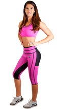 BODY SPA Sauna Yoga Capri Reversible Workout Neoprene Weight Loss 14107 - $23.32