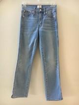 J Crew Womens Vintage Straight Light Wash Blue Jeans with Slit Hem Size 24 - $34.62