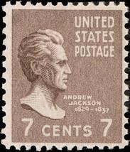 1938 7c Andrew Jackson 7th President of the United States Scott 812 Mint... - $0.99