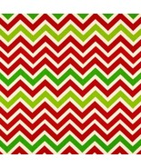 CHRISTMAS TABLECLOTH RECTANGLE Tablecloth  Zigzag Red, Green, on natural... - $51.99