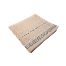 20 X Luxury Striped Bright 100% Combed Cotton Soft Absorbant Beige Hand Towels - $51.21