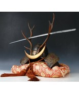 Japanese Samurai Helmet -shikanosuke kabuto- with a Replica Blade - $327.16