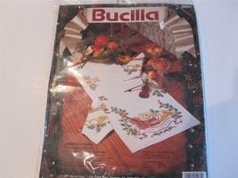 "Bucilla Cross Stitch ""Christmas Music"" Table Runner Kit Stamped -1991 - $19.75"