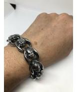 Argent Acier Inoxydable Gothique Bouddha 22.9cm Bracelet - $124.70