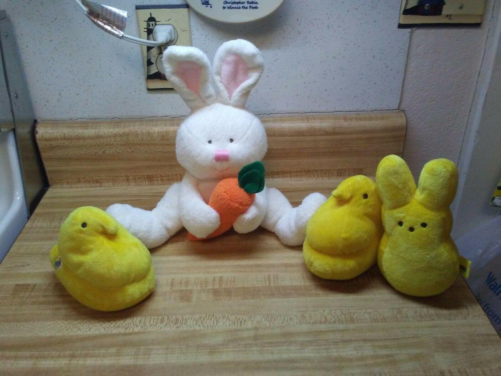 Ty bunny snackers and stuffed animal peeps - $18.95