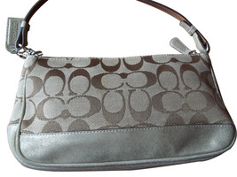 Coach Brown Signature Metallic Gold Demi Bag 1861 - £38.76 GBP