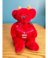 """Russ Berrie Dante Red Devil Teddy Bear Plush With Tag I Love You 10"""" Tall - $16.78"""